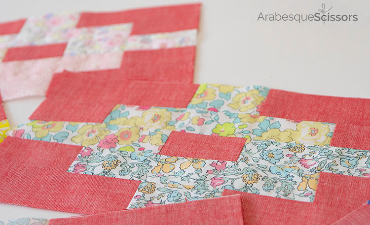 3 Tips for sewing with Liberty and Japanese Chambray - Sunset Isle QAL - Sorbet colours