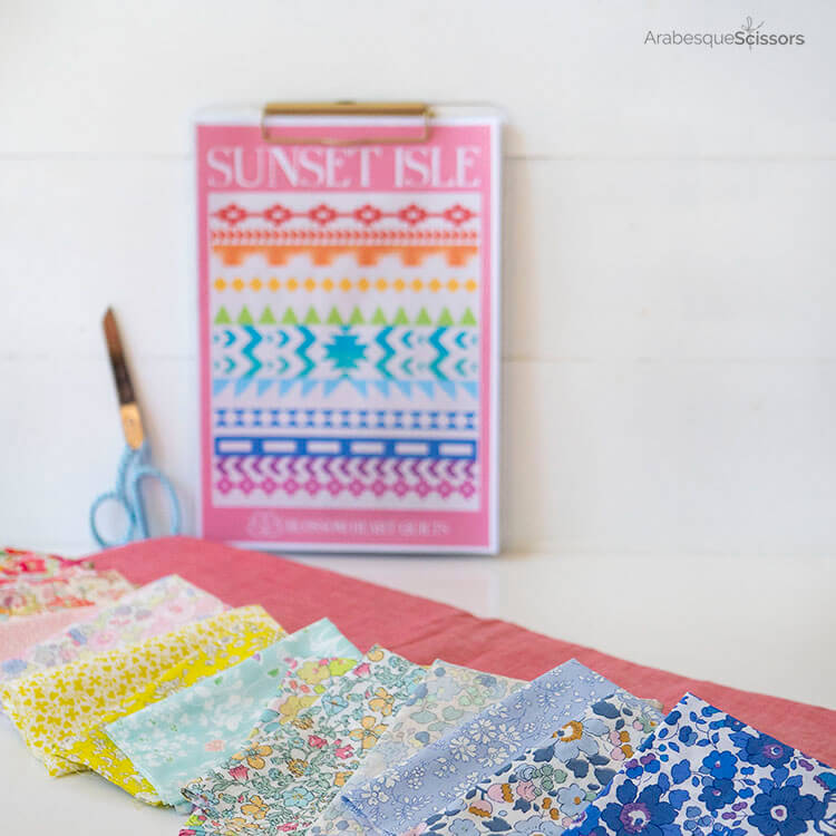 3 Tips for sewing with Liberty and Japanese Chambray - Sunset Isle QAL - Liberty Fabric pull