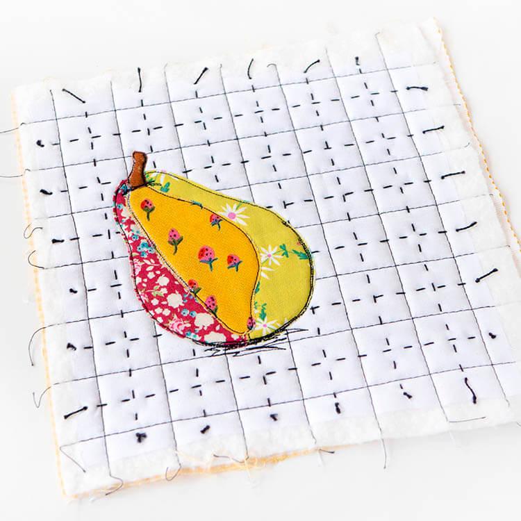 Un-PEAR-ably Cute Mugrug Tutorial - Free Pattern - add definition