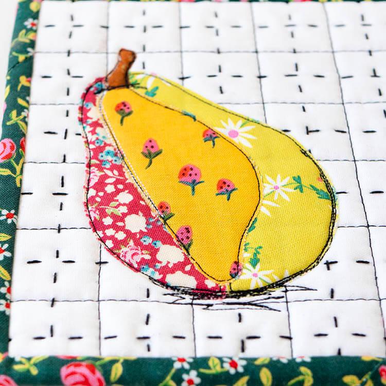 Un-PEAR-ably Cute Mugrug Tutorial - Free Pattern - cute fabrics!