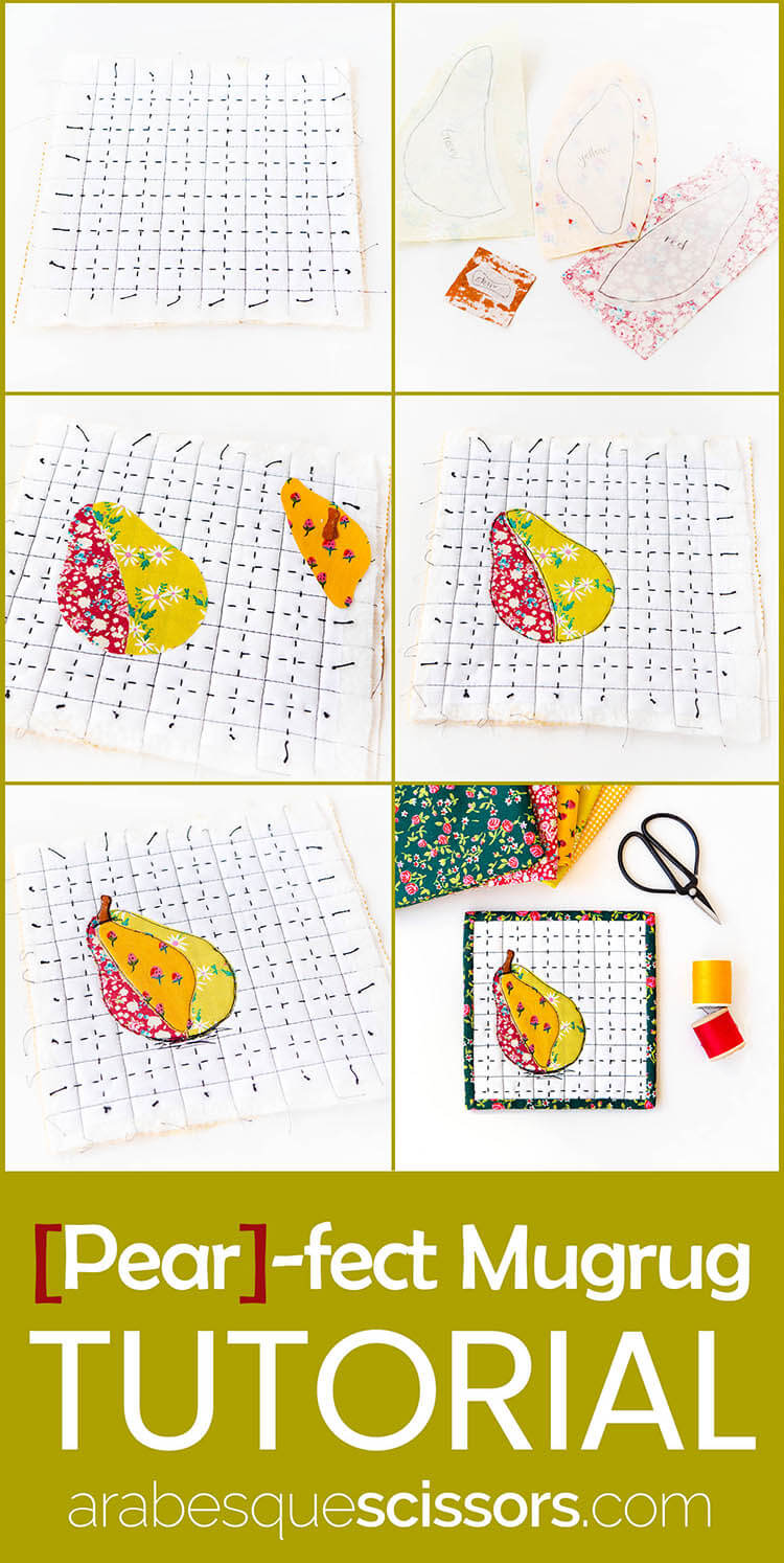 Un-PEAR-ably Cute Mugrug Tutorial - Free Pattern Pin