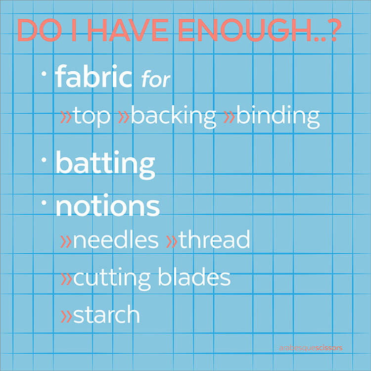 Streamline your Quilting: AKA how to get more done...DO I HAVE ENOUGH...?