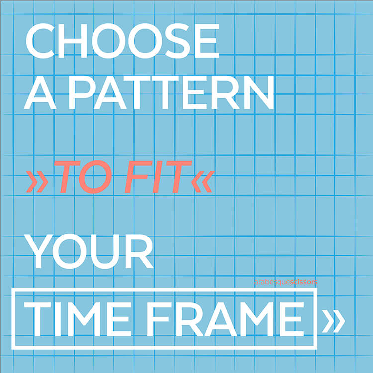 Streamline your Quilting: AKA how to get more done...CHOOSE A PATTERN TO FIT YOUR TIME FRAME