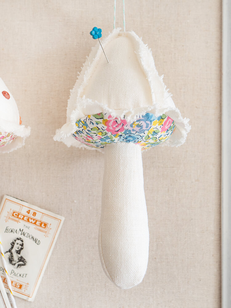 Patchwork Gifts Book Tour - Shabby 'Shrooms, Liberty & Waxed Canvas - linen ruffles and Liberty