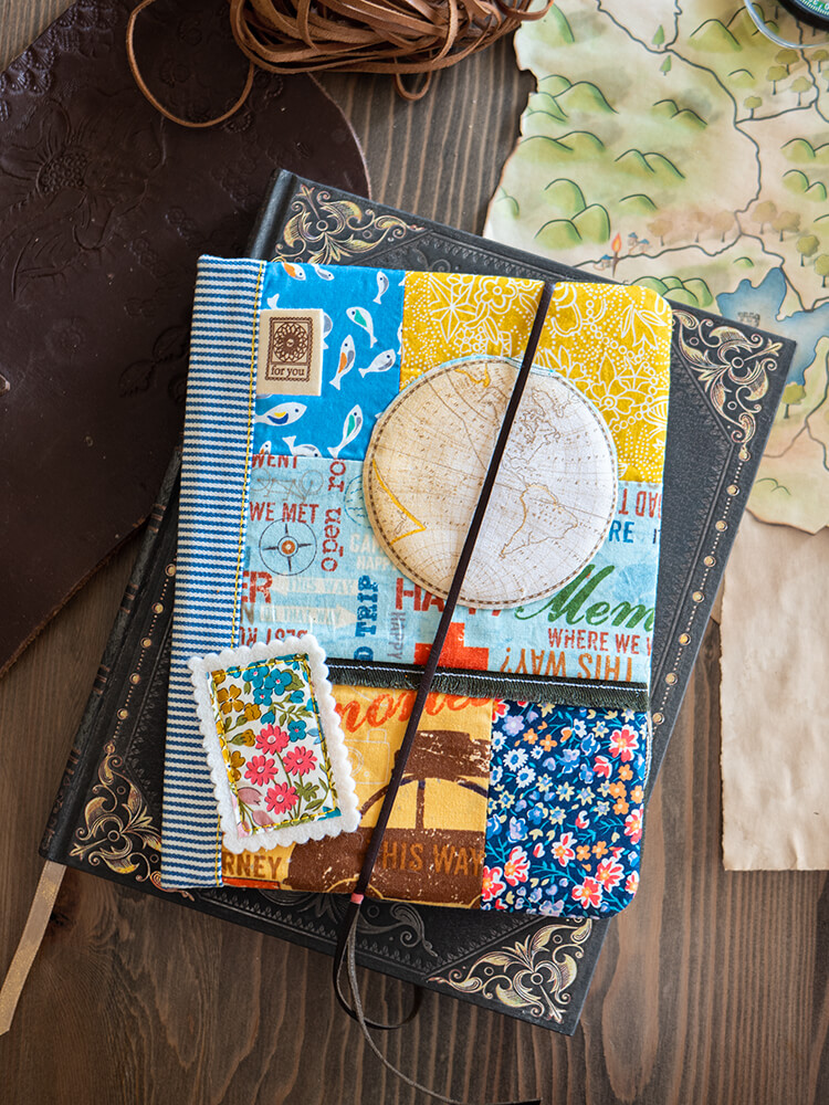 Patchwork Gifts Book Tour - Shabby 'Shrooms, Liberty & Waxed Canvas - Linen and waxed canvas travel compendium