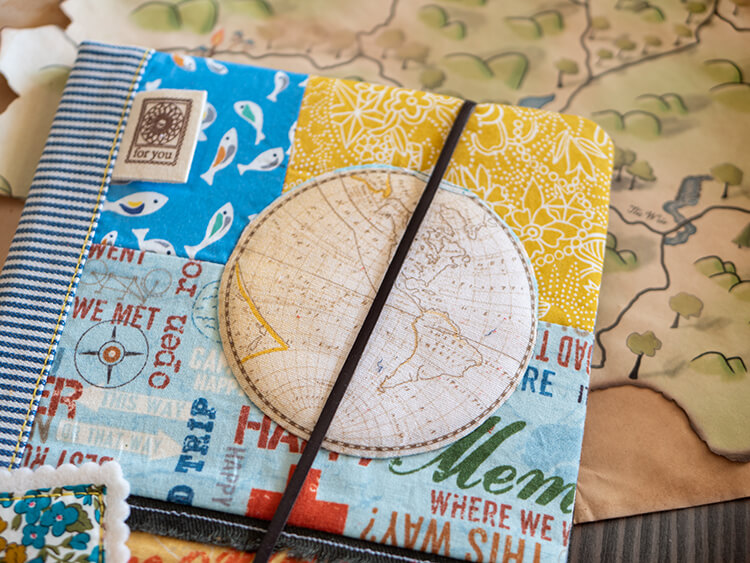 Gifts Book Tour - Shabby 'Shrooms, Liberty & Waxed Canvas - Liberty and waxed canvas travel compendium world globe