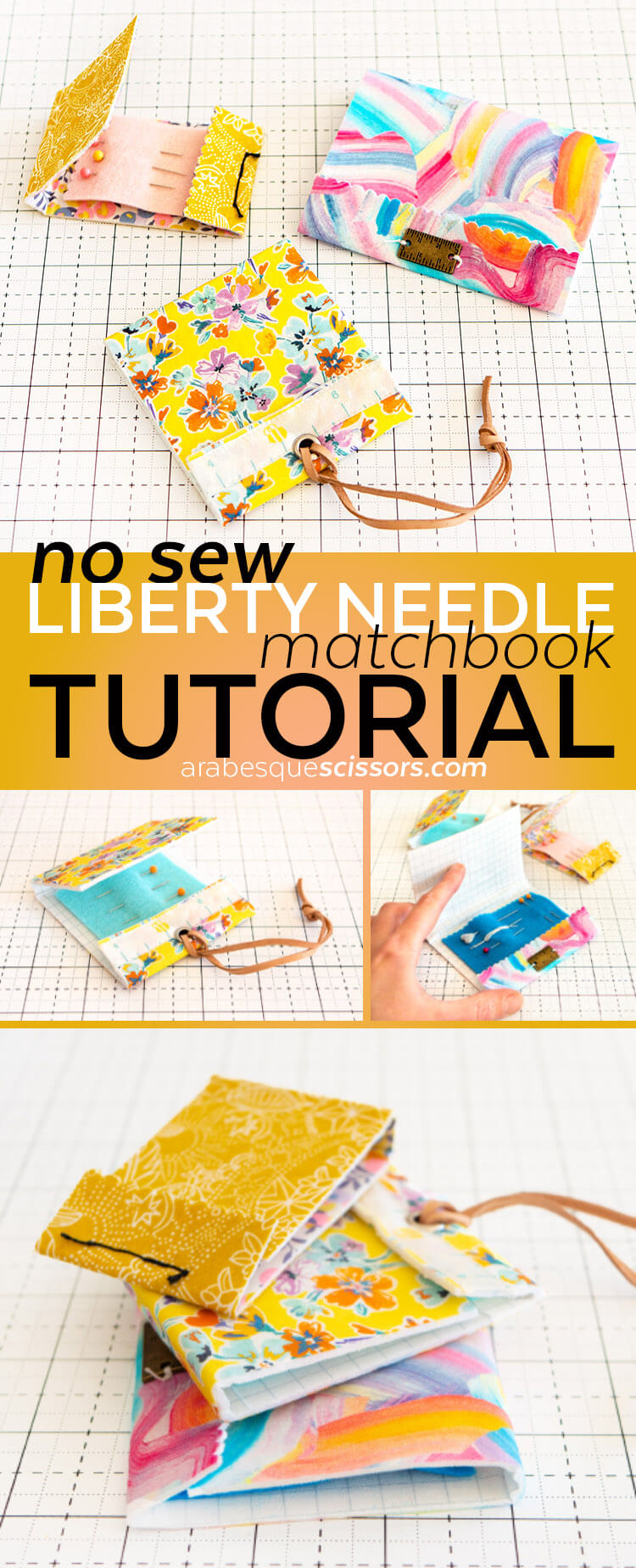 No Sew Liberty Needle Matchbook Tutorial - FREE HOW TO