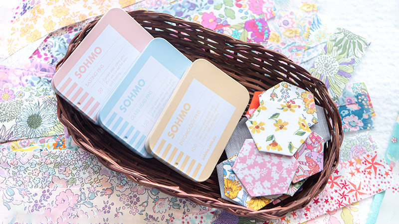 Sohmo Pins Review - A Quilter's Guide - Pretty tins