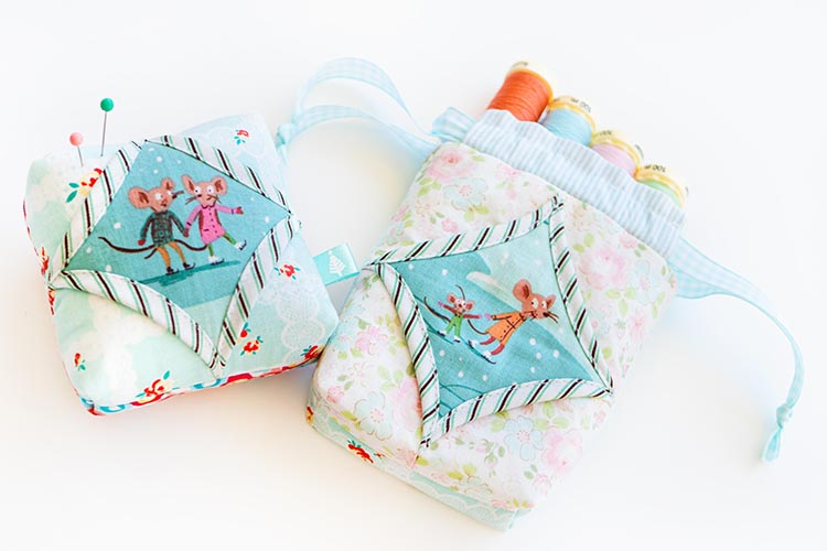 Easy Cathedral Windows Sewing Series - Pinnie and Pouch duo