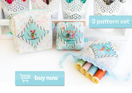 Easy Cathedral Windows Sewing Series - Three Pattern Set