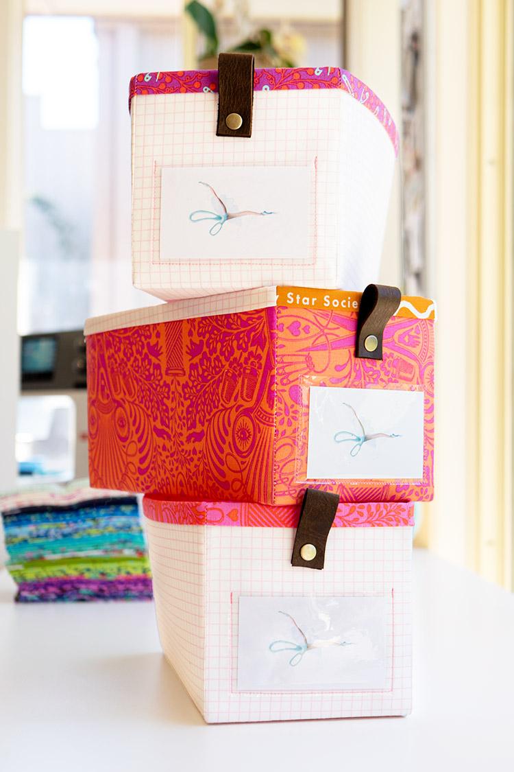 Make your own Fat Quarter Storage Basket