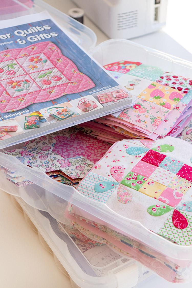 Sew Great to be Organized - Happy Flower QAL blocks