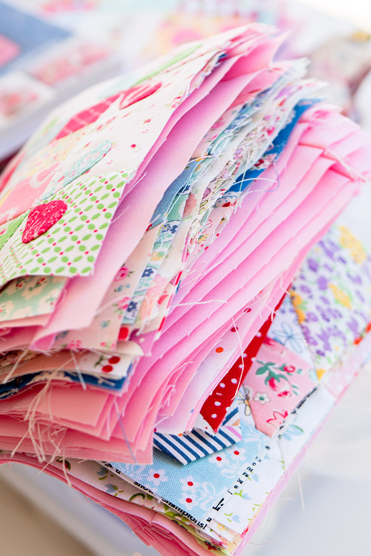 Sew Great to be Organized - Happy Flower QAL Block Stack