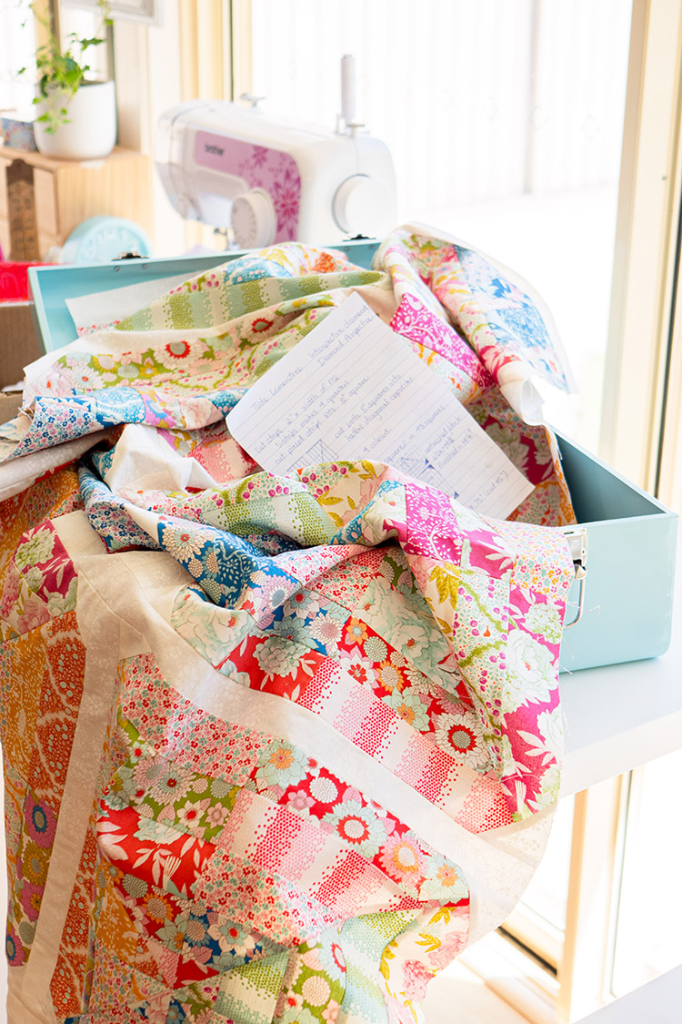 Sew Great to be Organized - old Tilda LemonTree Quilt top