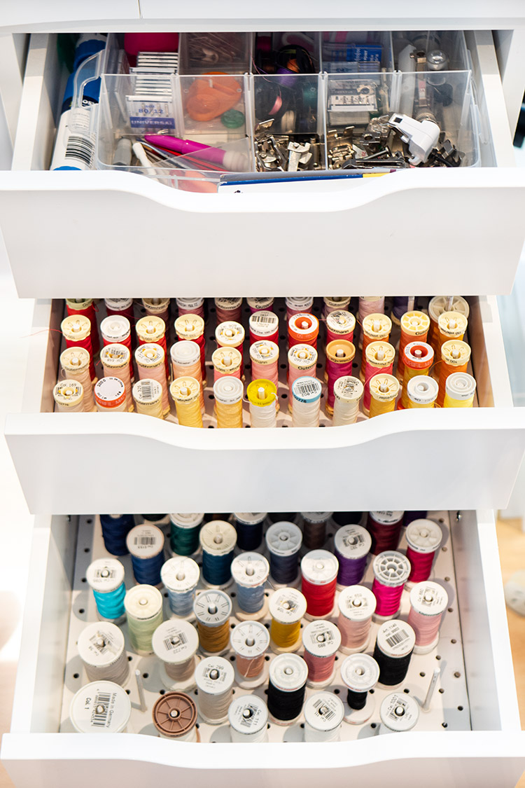 Clever Thread Storage Solution Ikea Hack - well packed drawers