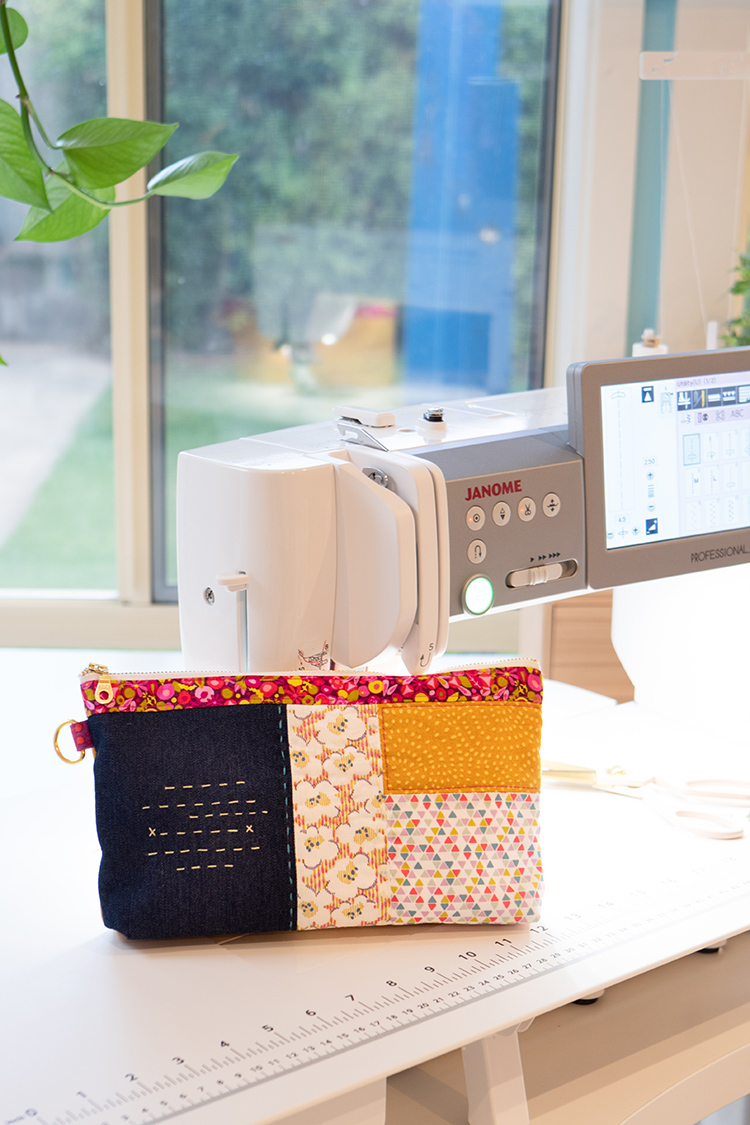 7 Tips for Learning a New Sewing Machine - First simple project pouch