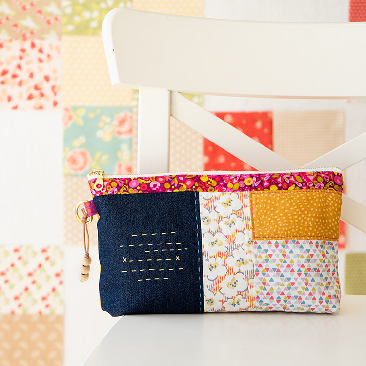 7 Tips for Learning a New Sewing Machine  - simple pouch project