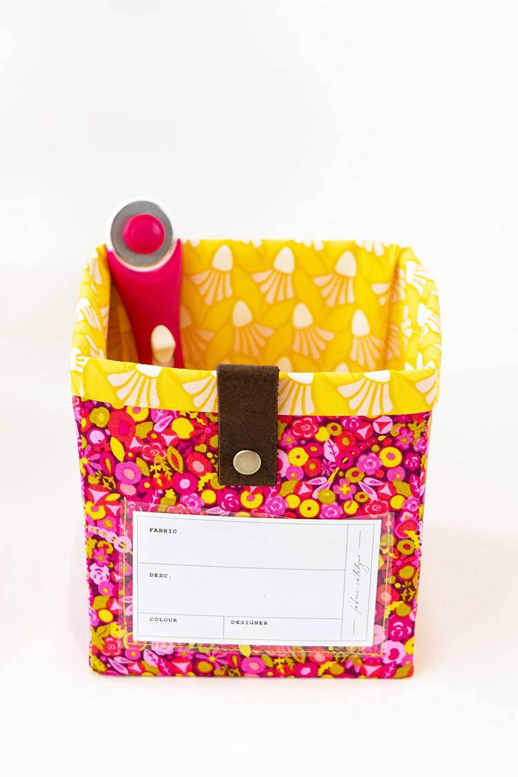 Sew Your Own Storage -The Ikea Billy Bookcase Storage System- cute cube with label
