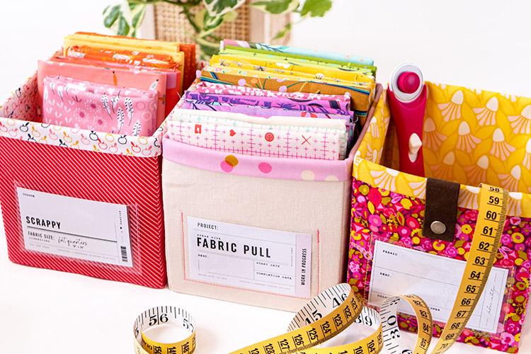 Sew Your Own Storage -The Ikea Billy Bookcase Storage System-line 'em up labels