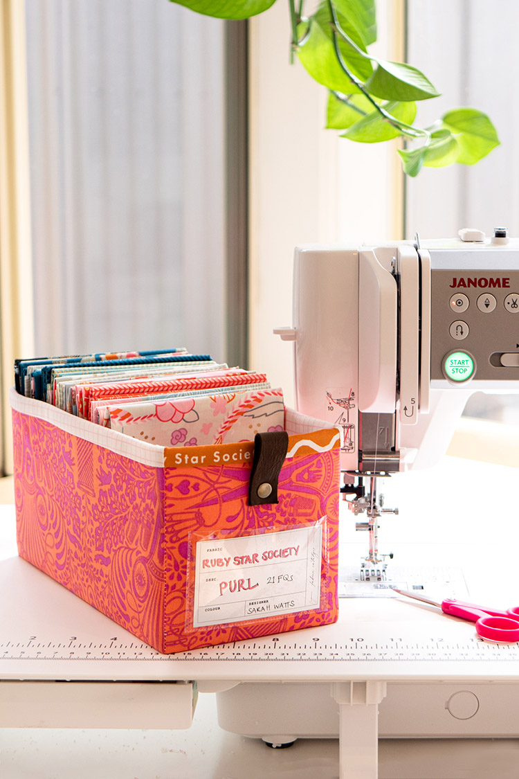 Sew Your Own Storage -The Ikea Billy Bookcase Storage System-showing off Janome M7