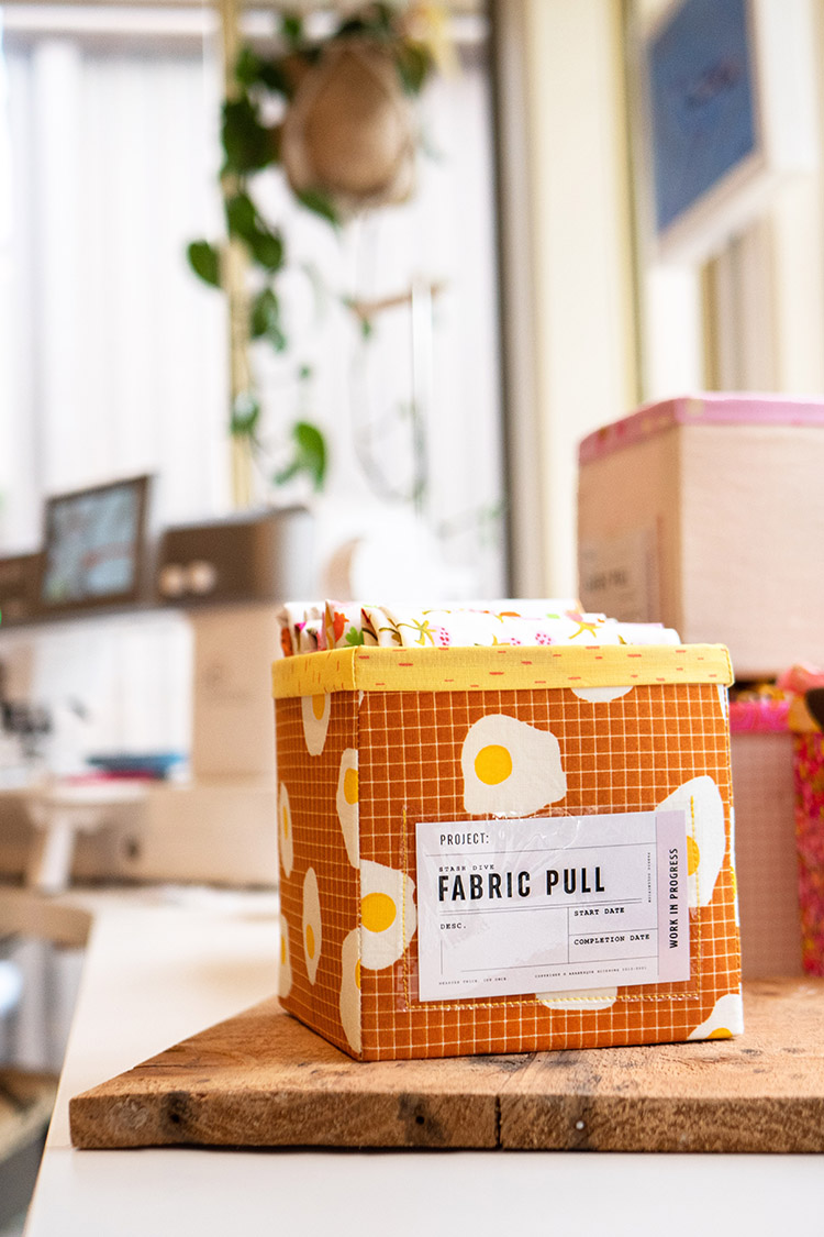 Top Tips for Sewing a Fabric Box - Cute Ruby Star Society fabric for the win!