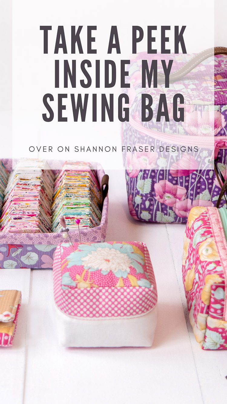 What's In Your Sewing Bag - Guest Post at Shannon Fraser Designs - All the kit