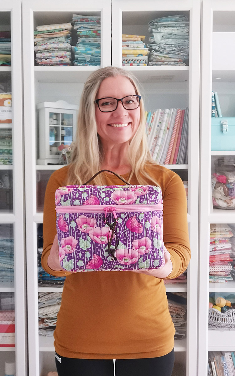 What's In Your Sewing Bag - Guest Post at Shannon Fraser Designs - A bag this cute is worth smiling about