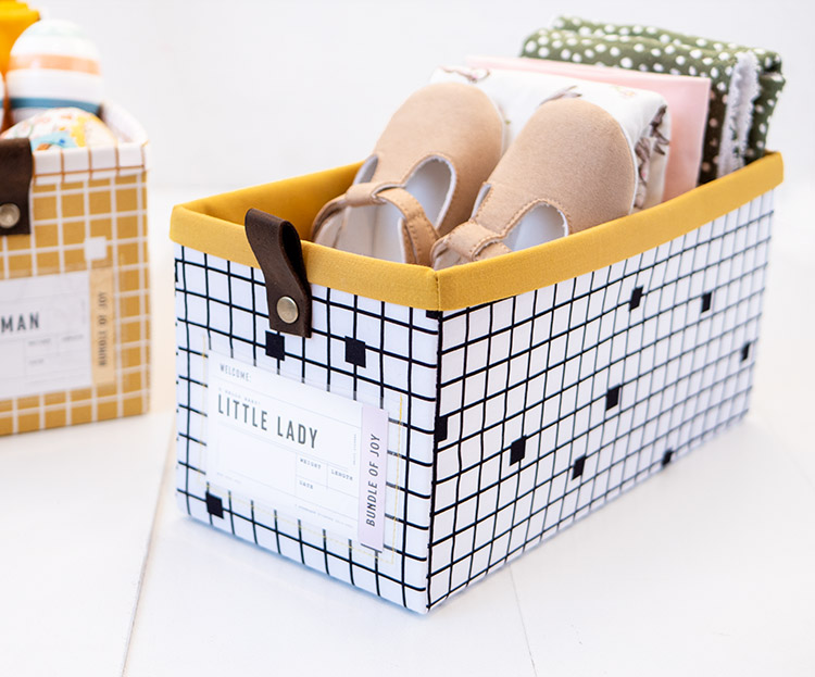 The Modular Giftbox - Give The Gift of Re-usable Storage - Baby Girl Box Baby on Trend by Jemima Flendt