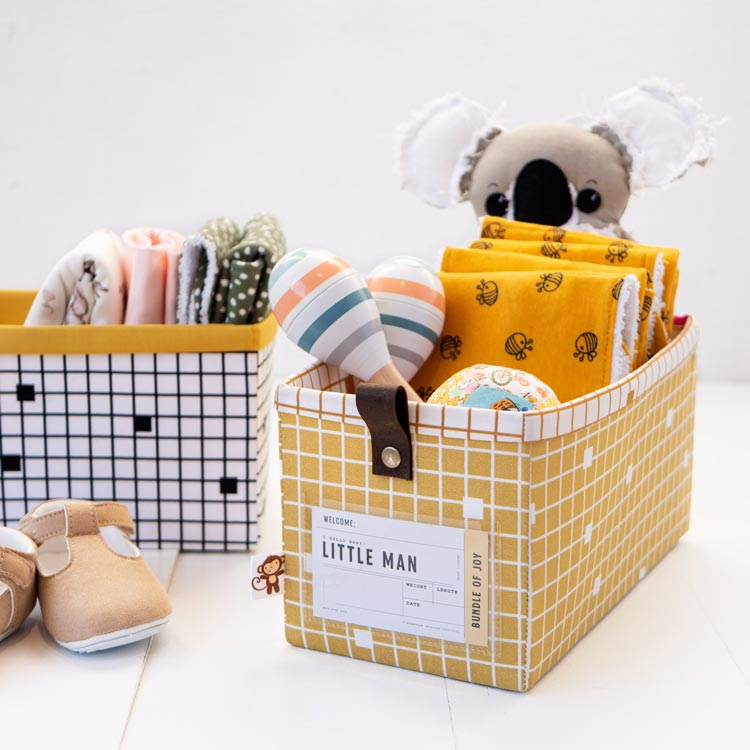 The Modular Giftbox - Give The Gift of Re-usable Storage - burps cloth for baby