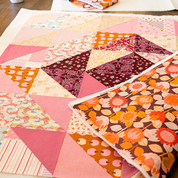How to Make a Circular Quilted Playmat - basting the sandwich