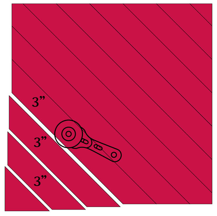 How to Make a Circular Quilted Playmat - cut bias binding