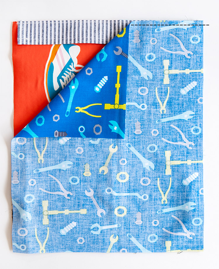 Back to School Backpack Tutorial - Stay Gold Panel Challenge Project 2 - attach linings