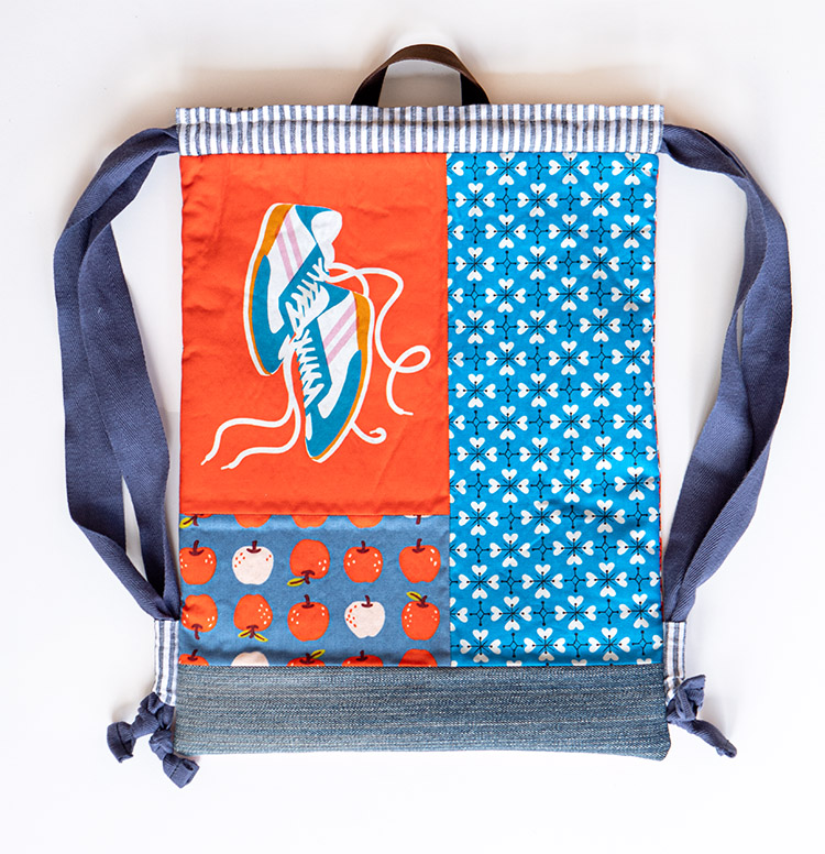 Back to School Backpack Tutorial - Stay Gold Panel Challenge Project 2 -  backpack flat lay