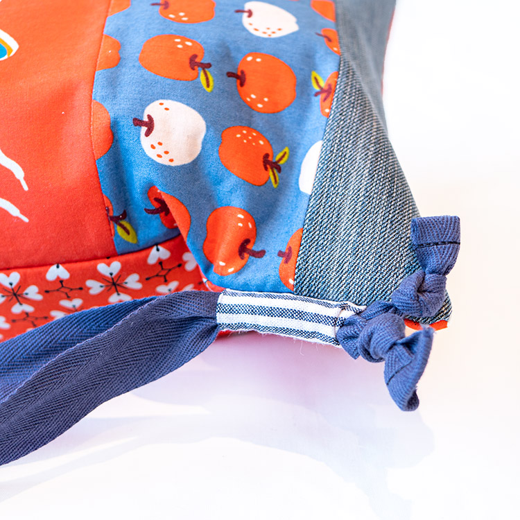 Back to School Backpack Tutorial - Stay Gold Panel Challenge Project 2 - thread through tabs