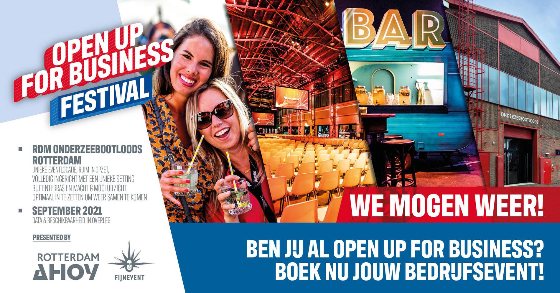 Open up for business festival informatie