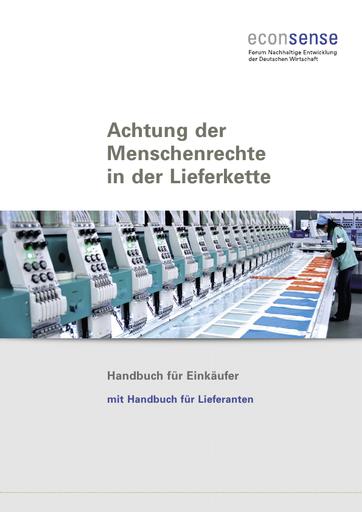 Achtung der Menschenrechte in der Lieferkette - Handbuch für Einkäufer