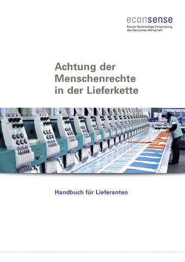 Achtung der Menschenrechte in der Lieferkette - Handbuch für Lieferanten