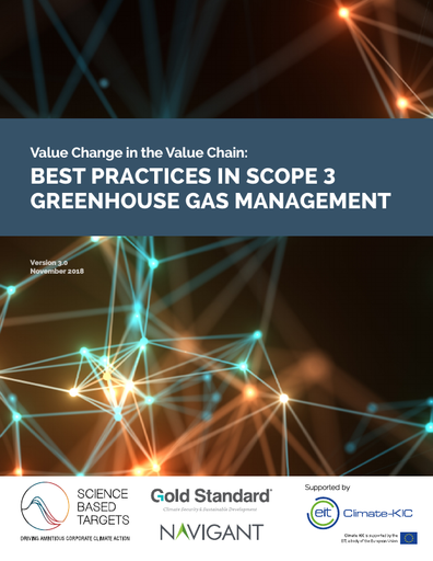Value change in the value chain: Best practices in scope 3 greenhouse gas management