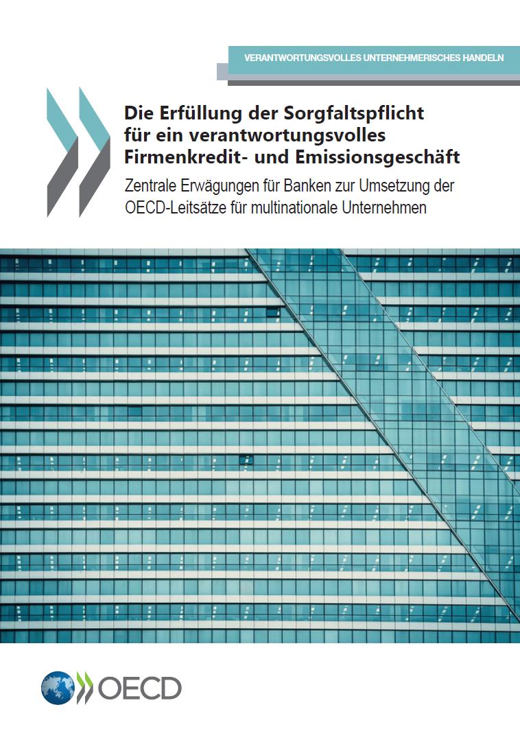 Die Erfüllung der Sorgfaltspflicht für ein verantwortungsvolles Firmenkredit- und Emissionsgeschäft