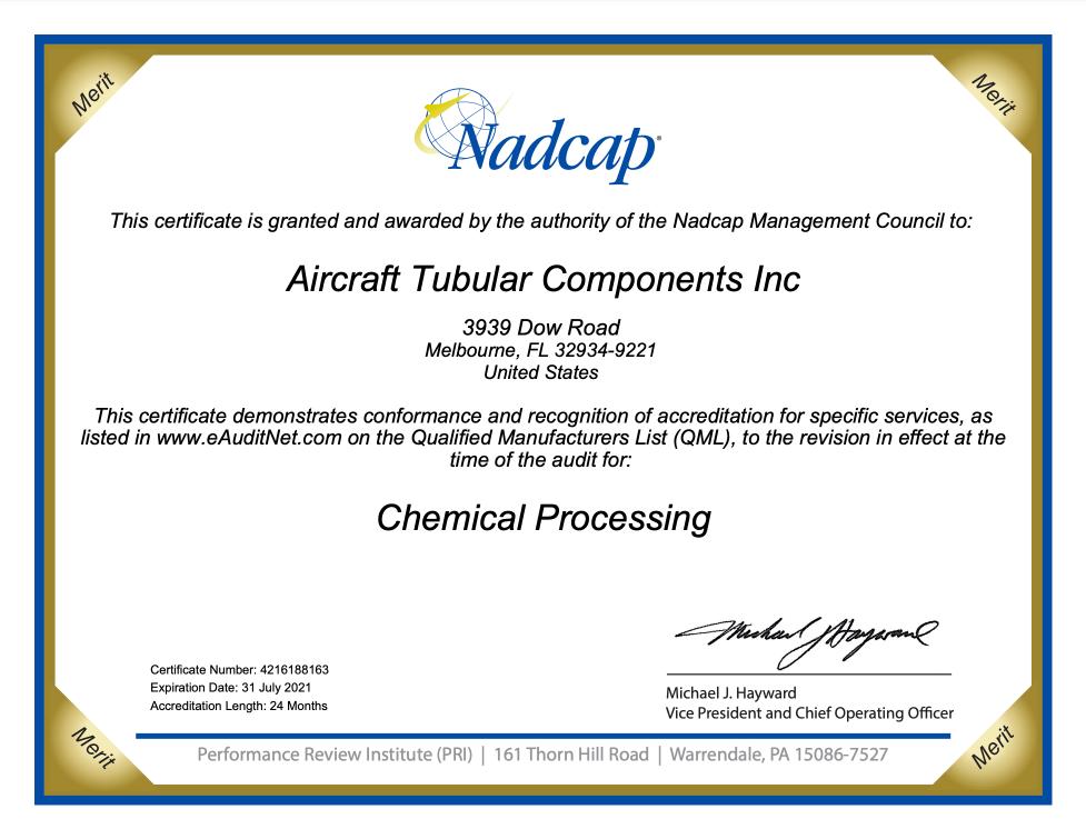 NADCAP Chem Proc - Expires 07/31/2021