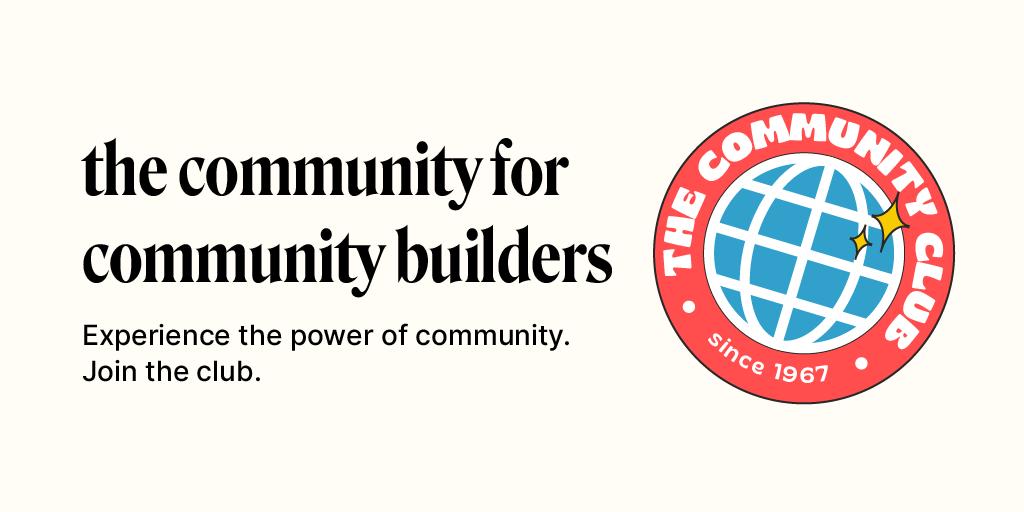 The Community Club   The Community for Community Builders