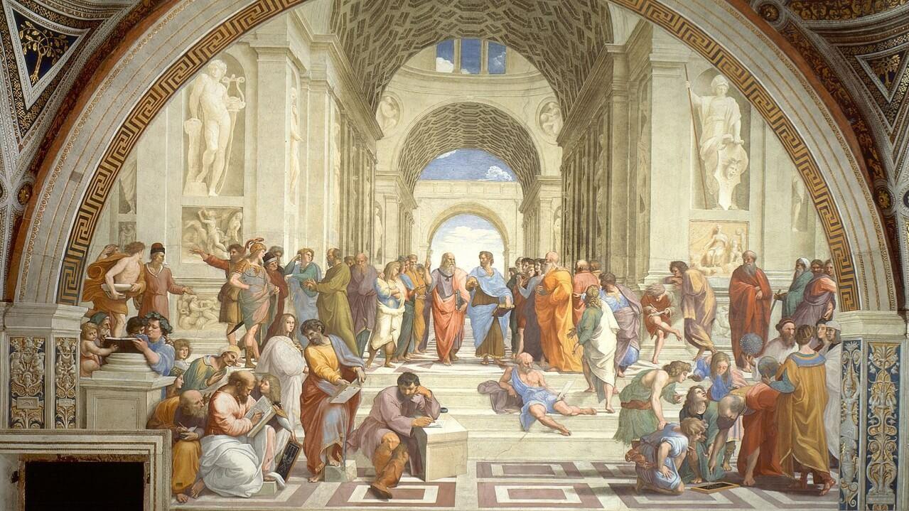 A Escola de Atenas, por Rafael Sanzio