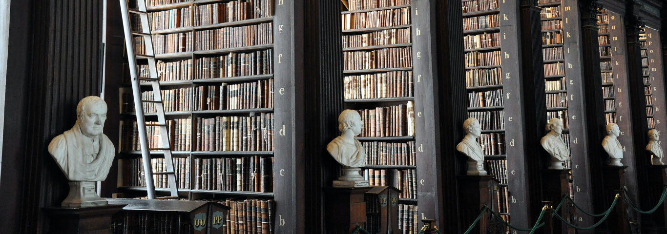 Biblioteca do Trinity College em Dublin, Irlanda