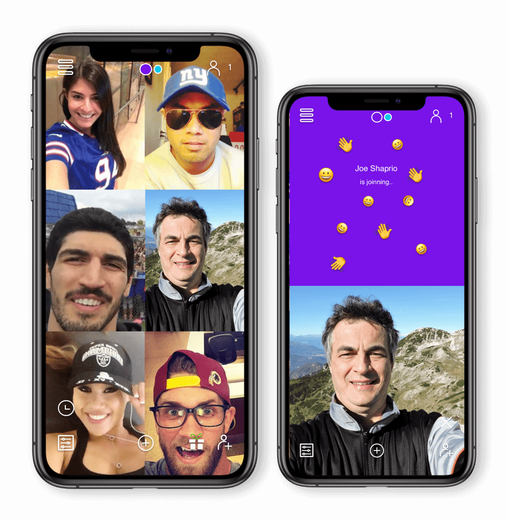 Live streaming video tiles