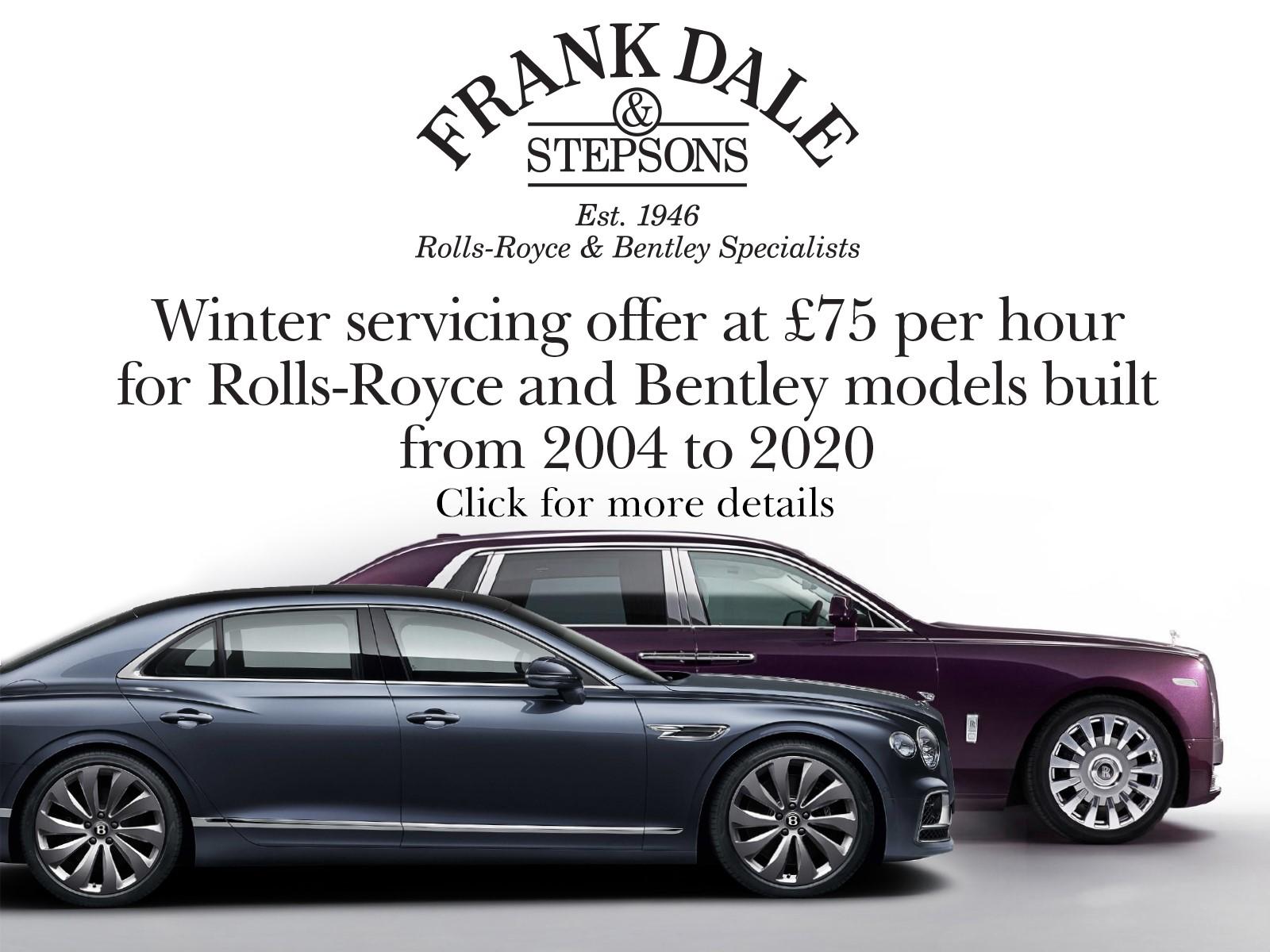 Bentley or Rolls-Royce Special Offer