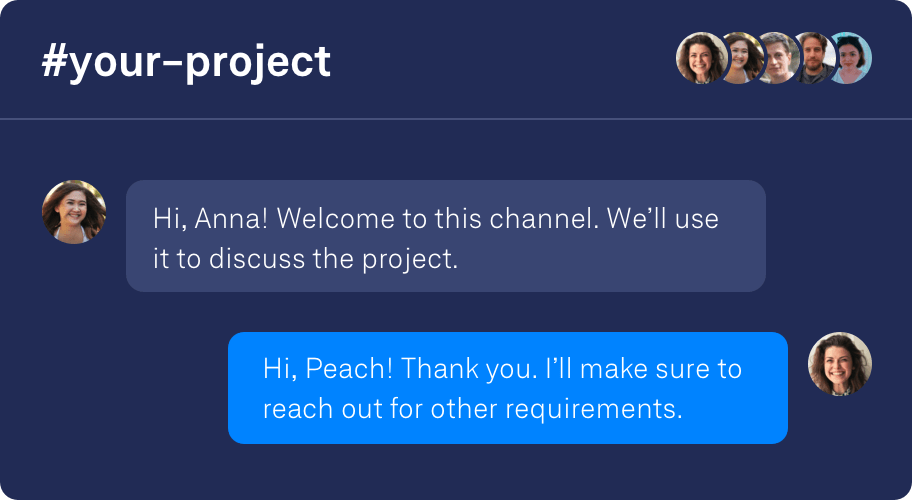 Get access to a private channel.