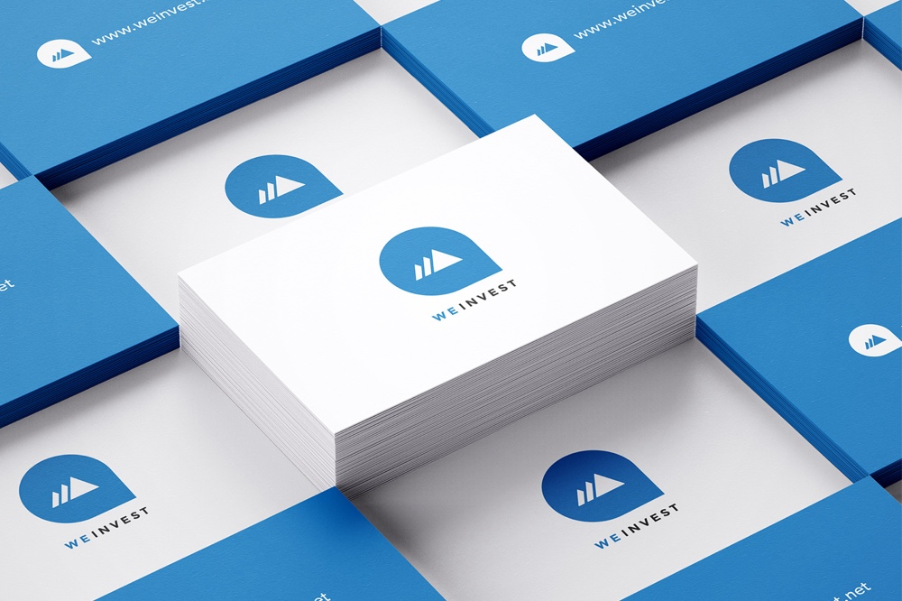 WeInvest business cards for Branding and Identity