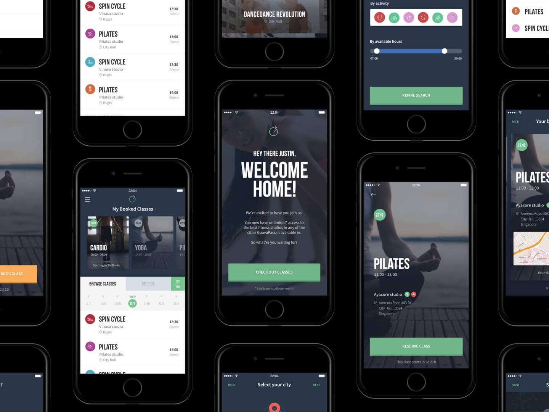 Guavapass app screens