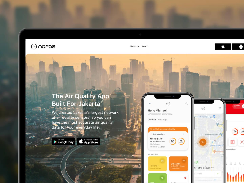 Nafas website homepage