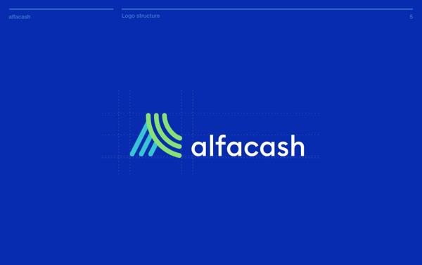 Alfacash logo study